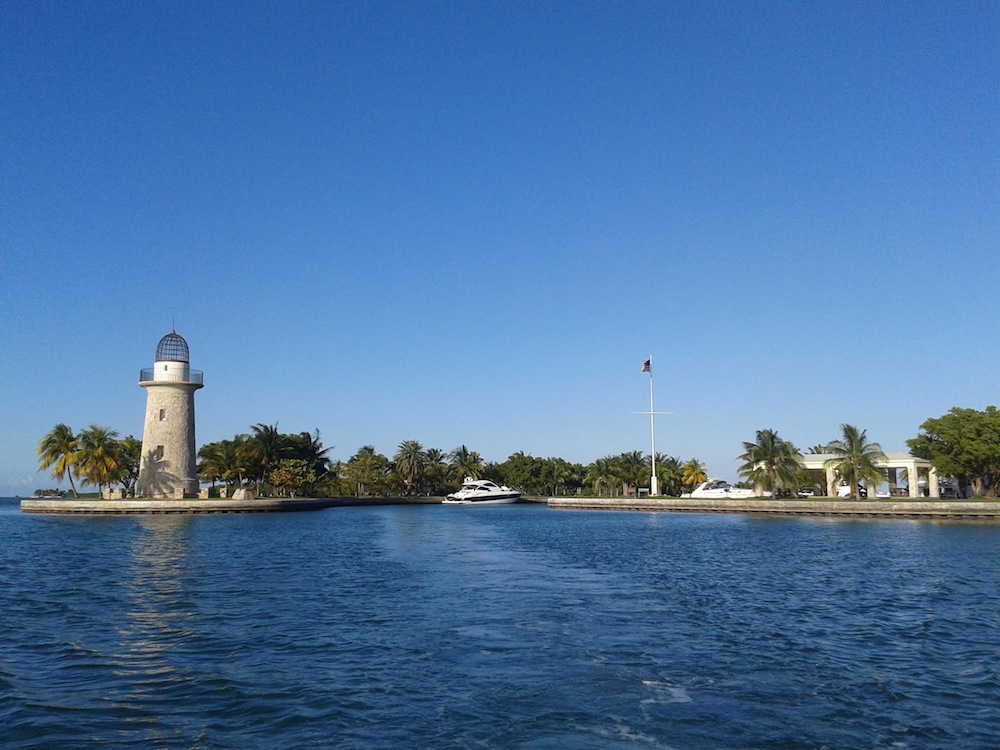 Boca Chita island from Biscayne Bay