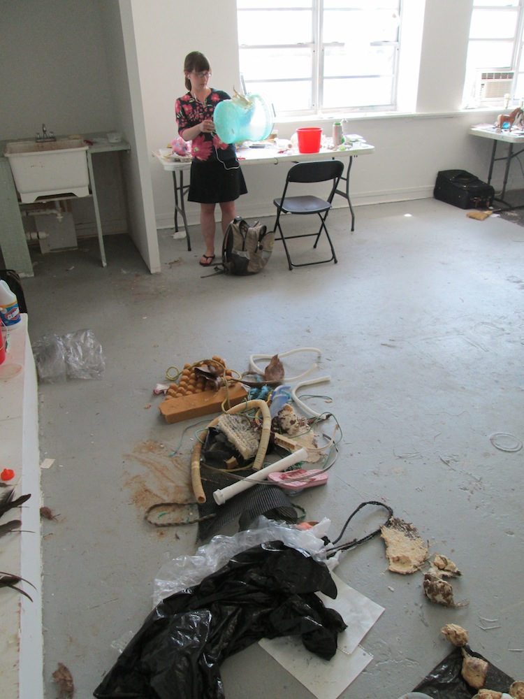 In the studio at Art Centre South Florida